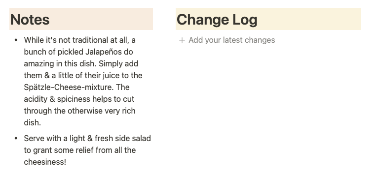 Meal Planner in Notion