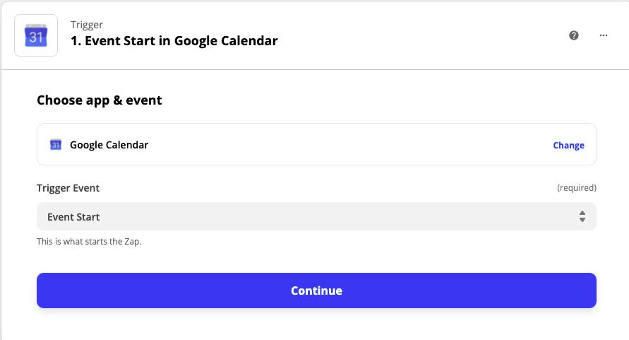 Google Calendar to Notion API
